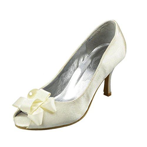 pour 7 White Heel femme Minitoo Sandales 5cm zxgwTTq