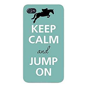 @ALL Keep Calm and Jump On Cover Case For Iphone 5C(Black) with Best Silicon Rubber by ruishername