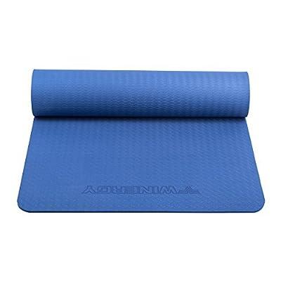 "Joymoze Friendly Textured Non Slip Surface and Optimal Cushioning TPE Yoga Mat, 72""x 24"" Thickness 1/3 (8mm)"