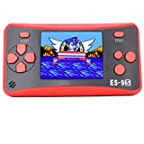 Retro Handheld Games for Kids with Built in 168 Classic Video Games Device Mini Arcade Gaming Machines Portable Electronic Consoles 16 Bit 2.5'' Screen (Red)