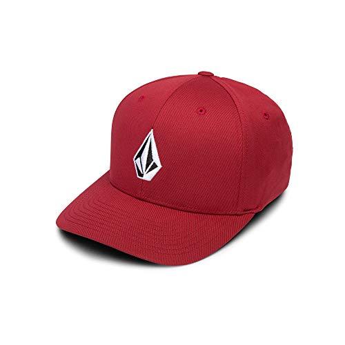 Volcom Men's Full Stone Xfit Flex Fit Hat, Burgundy, Extra Large Big