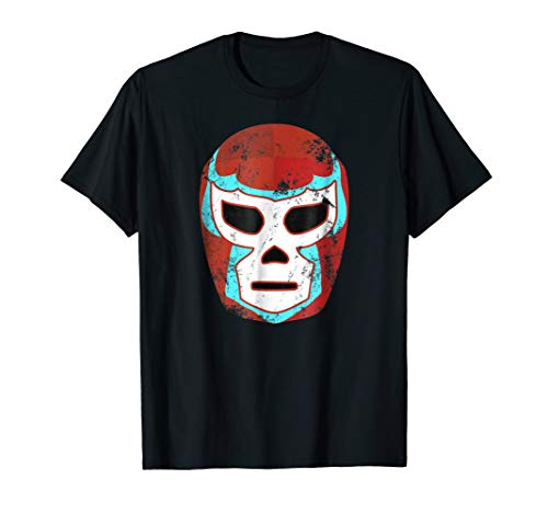 Wrestling Lucha Libre Luchador Mask Retro Throwback T Shirt