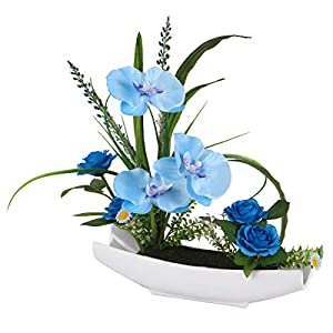 """National Tree 15"""" Orchid Flowers, Blue 104"""