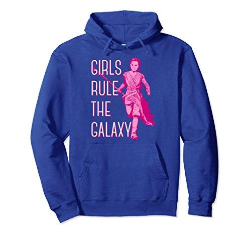 sode 7 Rey Girls Rule The Galaxy Hoodie Medium Royal Blue ()