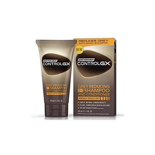 Grey Hair Reducing Shampoo & Conditioner Just For Men Contro