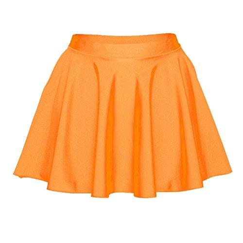 Starlite circulaire Jupe en Nylon Lycra pour femme Orange Flo