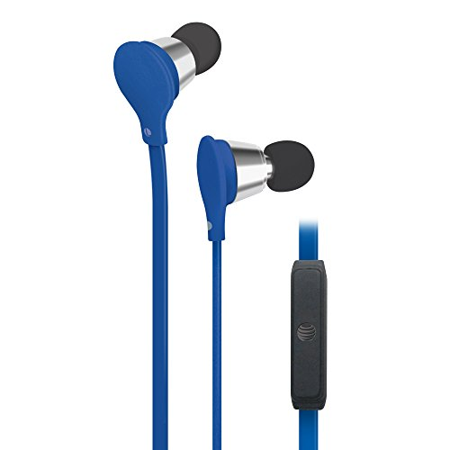 AT&T Jive Music + Calls Stereo Headphones - Blue (EBM01) -  EBM01-Blue