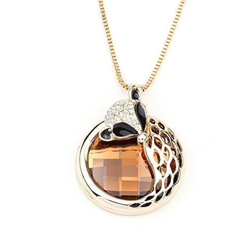 NL-07059C3 Alloy Fashion Geometric Inlaid Crystal Women Necklace