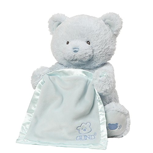 "GUND Peek-A-Boo My 1st Teddy, 11.5"" (Blue)"