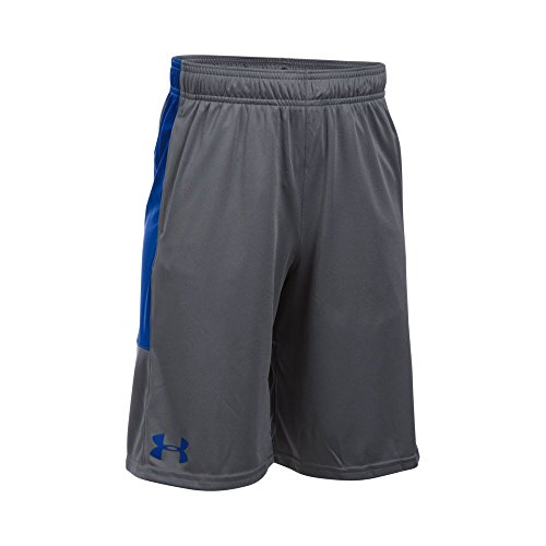 Boys Gym Short - Under Armour Boys Instinct Shorts,Graphite/Royal Youth Medium