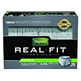 "Kimberly-Clark Heachlth Care - Depend Real Fit Heavy Absorbent Male Incontinence Brief, L/Xl (38-50""), 40 Pack"