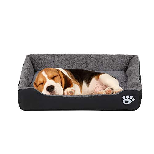 🥇 VICSPORT Cama para Perros Cálida Suave Lavable a Máquina Tejido de Felpa Cómoda Cama para Gatos Perros Sofá Colchón para Perro – XL