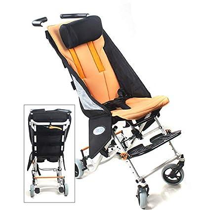 QETU Silla de Ruedas Ligera de Viaje para niños, Adecuado para discapacitados,Perebral parálisis