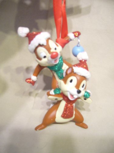 (Disney Holiday Santa Chip & Dale Ornament - Disney Theme Parks Exclusive & Limited Availability)