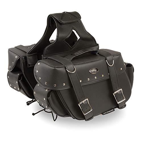 - Milwaukee Performance SH57402ZB Black Medium Zip-Off PVC Throw Over Riveted Saddle Bag