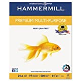 Premium Multipurpose Paper, 24-lb., 8-1/2 x 11, White, 2500/Carton, Sold as 5 Ream