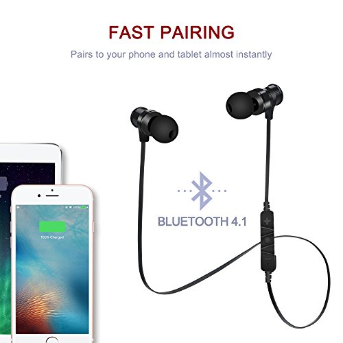 bluetooth headphones sowak s3 wireless 4 1 headset noise cancelling magnetic earbuds stereo. Black Bedroom Furniture Sets. Home Design Ideas