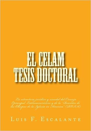 Amazon Com El Celam Tesis Doctoral La Estructura Jurídica