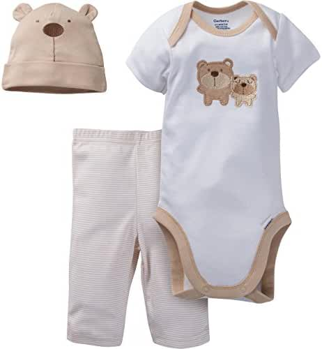 Gerber Unisex Baby 3 Piece Bodysuit, Cap, and Pant Set