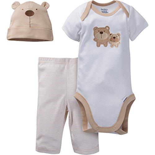 gerber-unisex-baby-newborn-3-piece-bodysuit-cap-and-pant-set-brown-bear-0-3-months