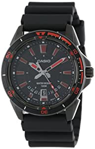 "Casio Men's MTD-1066B-1A2VDF ""Core Collection"" Stainless Steel and Black Resin Sport Watch"