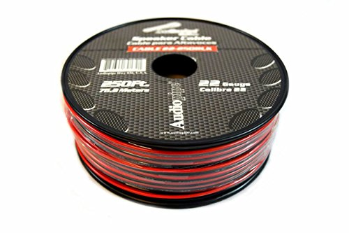 Speaker Wire 22 GA 250 Feet Red Black Stranded Copper Clad Home Audio Sound by Audiopipe (Image #1)