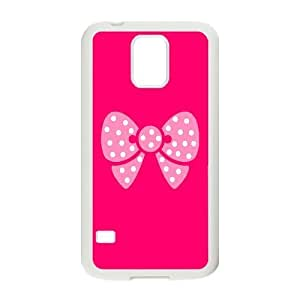 [Pink Pattern & Pink Texture] Pink Butterfly Pattern Cases for Samsung Galaxy S5, Samsung Galaxy S5 Case Girls for Girls {White}