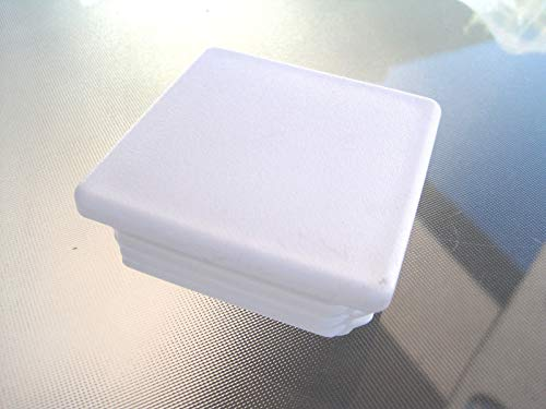 Anywhere a Finished Look is Needed 3'' White Square Tubing Plastic Hole Plug End Cap, 3x3 Fence Post Insert Cover Caps Inserts for Tube Pipe Box 3' Plastic End Caps