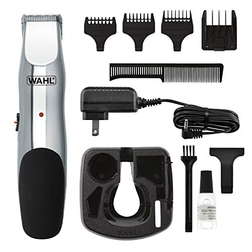 Wahl Clipper Groomsman Trimmer for Men,  for Beard, Mustache, Stubble, Rechargeable men's Grooming Kit, Great Holiday Gift for men by the Brand used by Professionals #9916-817]()