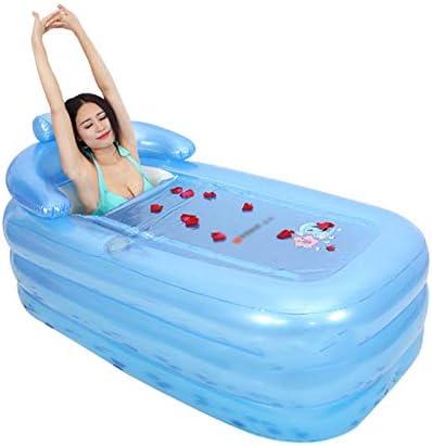 HUOQILIN ポータブルポンプ空気圧ファミリー浴室と、浴槽を折畳み、160 * 84 * 64センチメートル(色:青、ピンク)