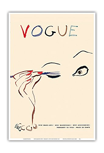 Pacifica Island Art Vogue Magazine Cover - February 15, 1935 - Vintage Magazine Cover by Carl Erickson c.1935 - Master Art Print - 13in x 19in