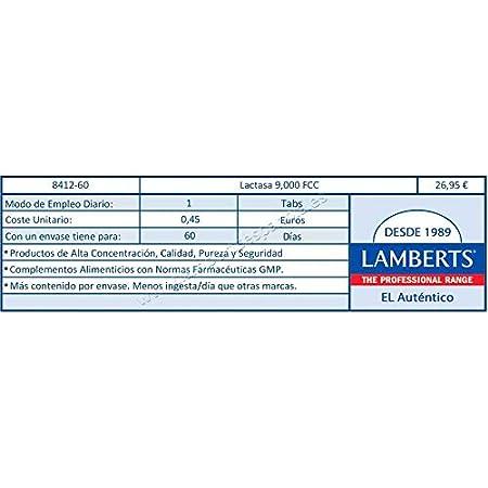 Amazon.com: Lamberts Super Strength Lactase Complex 350mg 60 ...