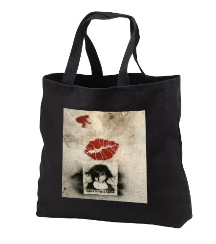 Mirmak grafitti - red lips girl wants to dance solo - Tote B