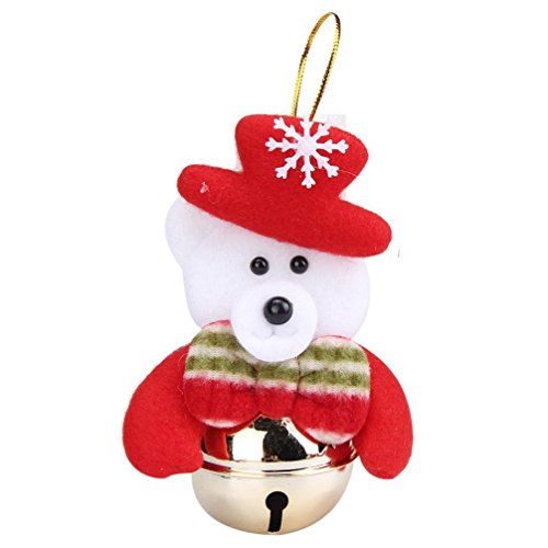 [Tenworld 1PC Christmas Tree Ornaments Novelty Xmas Decoration Bells (D)] (Grinch Costume Diy)