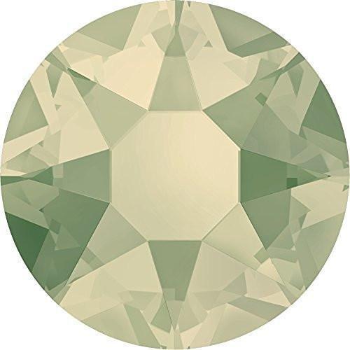 Light Grey Opal Swarovski Crystal - 2000, 2038 & 2078 Swarovski Flatback Crystals Hotfix Light Grey Opal | SS34 (7.2mm) - 15 Crystals | Small & Wholesale Packs