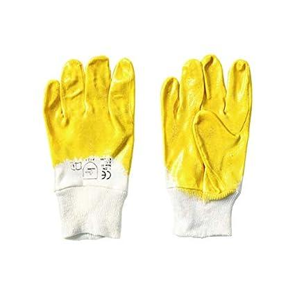 Handschuhe gelb Nitril Größe 10