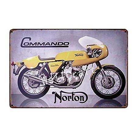 lotuwio Norton BSA Carteles Metálicos Cartel De La Pared ...