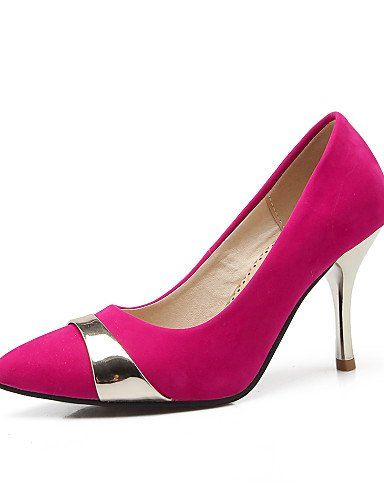 GGX/Damen Schuhe Fleece Sommer/spitz Toe Heels Büro & Karriere/Casual Trichterabsatz Split Gemeinsame Schwarz/Blau/Rot black-us7.5 / eu38 / uk5.5 / cn38
