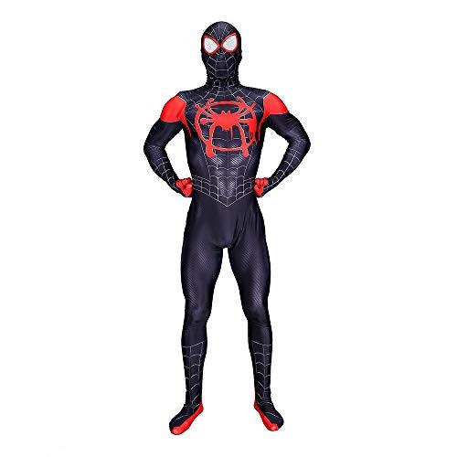 Elakaka Miles Morales Spiderman Costume,Superhero Zentai Bodysuit Adult Cosplay Costumes for $<!--$39.99-->