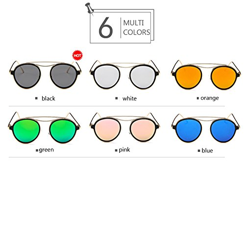 vidrios Sol conducen Hombres Orange Color polarizados de Gafas Go Black Steampunk098 Que los Shopping Redondas Redondas Easy fpvIwqx