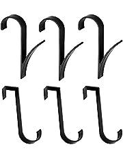 6 stuks haken voor badkamer radiator, bad haakhouder, handdoekhaak, roestvrij stalen haak, voor verwarmde handdoekrail radiator buisvormige badhaak houder Crook grijp