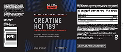 GNC AMP Creatine HCl 189 - Twin Pack by GNC (Image #5)