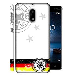 ColorKing Football Germany 28 White shell case cover for Nokia 9