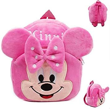 Mochila Disney Minnie Personaje Dibujos Animados niños niñas de Peluche de Juguete Mini Bolsa DE LA Escuela Regalos guarderia Bebe: Amazon.es: Equipaje