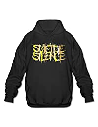 Alant Men's Suicide Silence Logo Gold Style Logo Hoodie