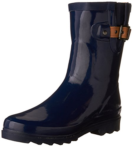 Chooka Women's Mid-Height Rain Boot, Midnight, 6 M US