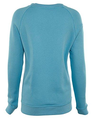 Nike W Nsw Rally Crw Sport-sweaters 826662 Sky Blue / Vivid Sky-black