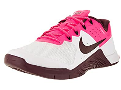 NIKE Women's Wmns Metcon 2, White/Night Maroon-Pink Blast-Black, 6.5 M US