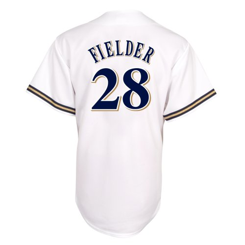 - MLB Prince Fielder Milwaukee Brewers Youth Replica Home Jersey (Small)
