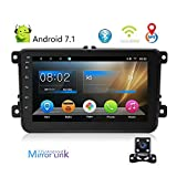 Camecho Double Din Android 7.1 Car Navigation Stereo Multimedia Player 8'' Audio Bluetooth MP5 Build-in WiFi/Dash Camera AM/FM Supprot Android and iOS Mirror Link with Rearview Camera for VW